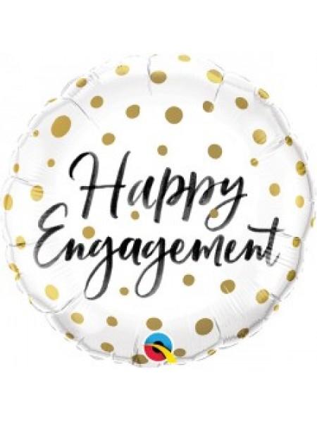 Happy Engagement Round Balloon