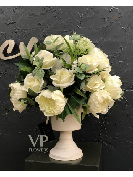 White Artificial Arrangement