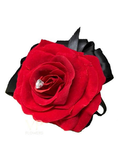 Artificial Red Rose Corsage