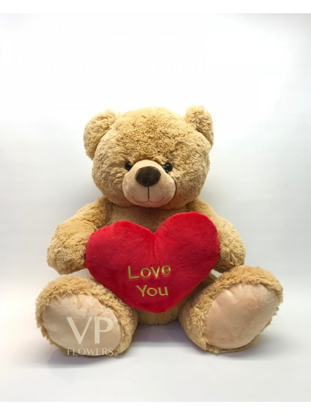 "Small ""Love You"" Brown Teddy Bear"