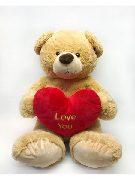 "Extra Large ""Love You"" Brown Teddy Bear"