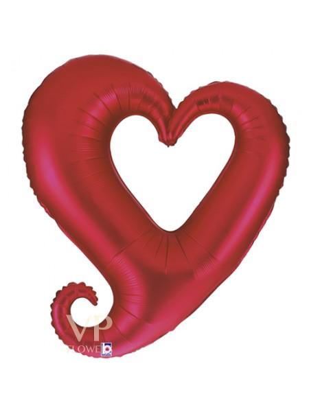 37''/94 cm Love Heart Red