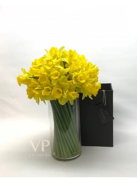 Daffodil and Vase Bouquet