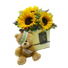 Sunflowers Hatbox 'Get Well'