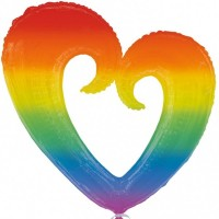 Rainbow Love Heart