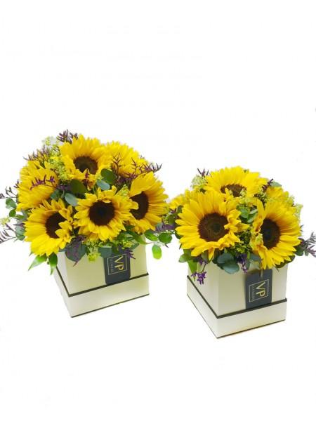 Sunflower Hatbox