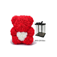 Small ''Foam Rose'' Teddy Bear
