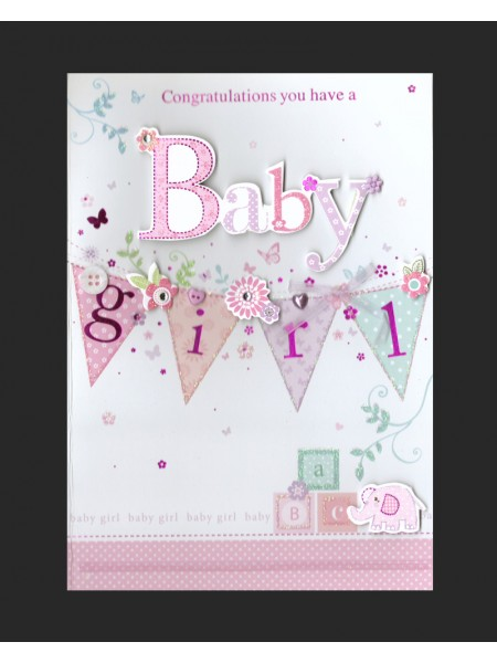 Baby Girl Card (no.1)