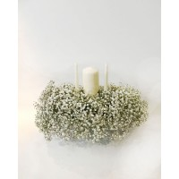 Gypsophyla Unity Candle Arrangement