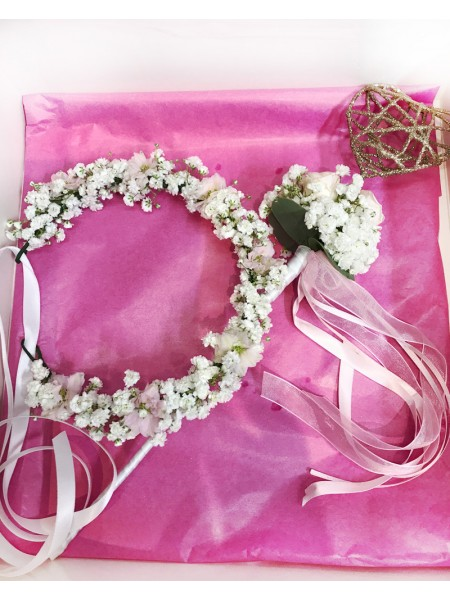 Flower Girl Crown & Wand